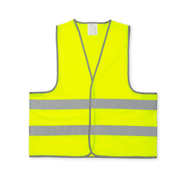 Kamizelka odblaskowa wizualizacyjna pod nadruk - żółta - przód