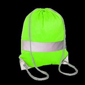 Zielony worek odblaskowy na plecy - Premium - przód